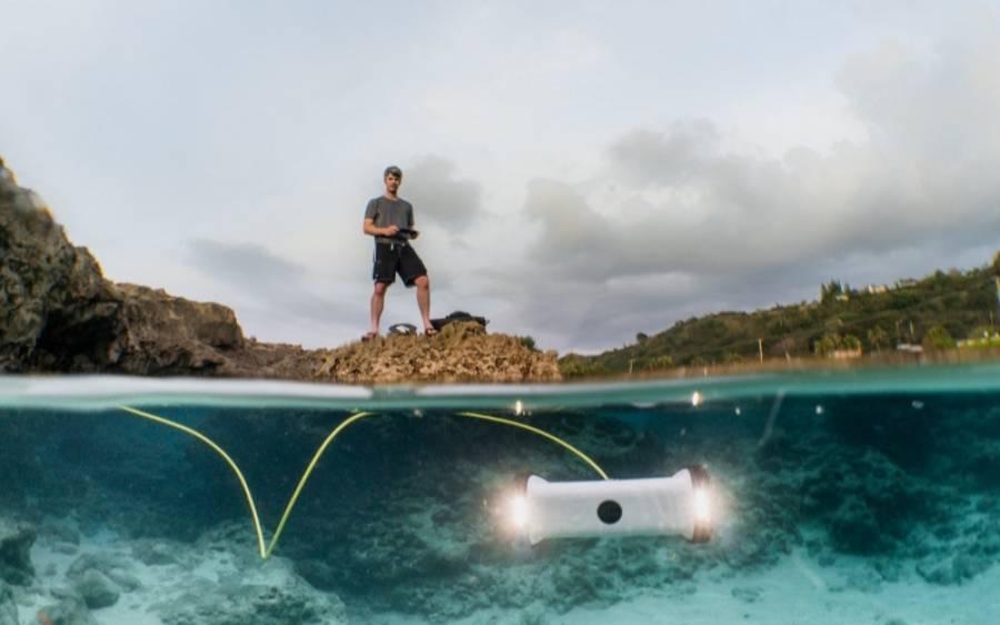 Sofar Ocean Trident under water