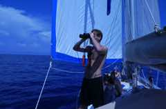 reasearchers on board small